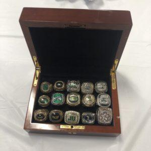Paul McCord's ring box containing 15 amazing championship rings